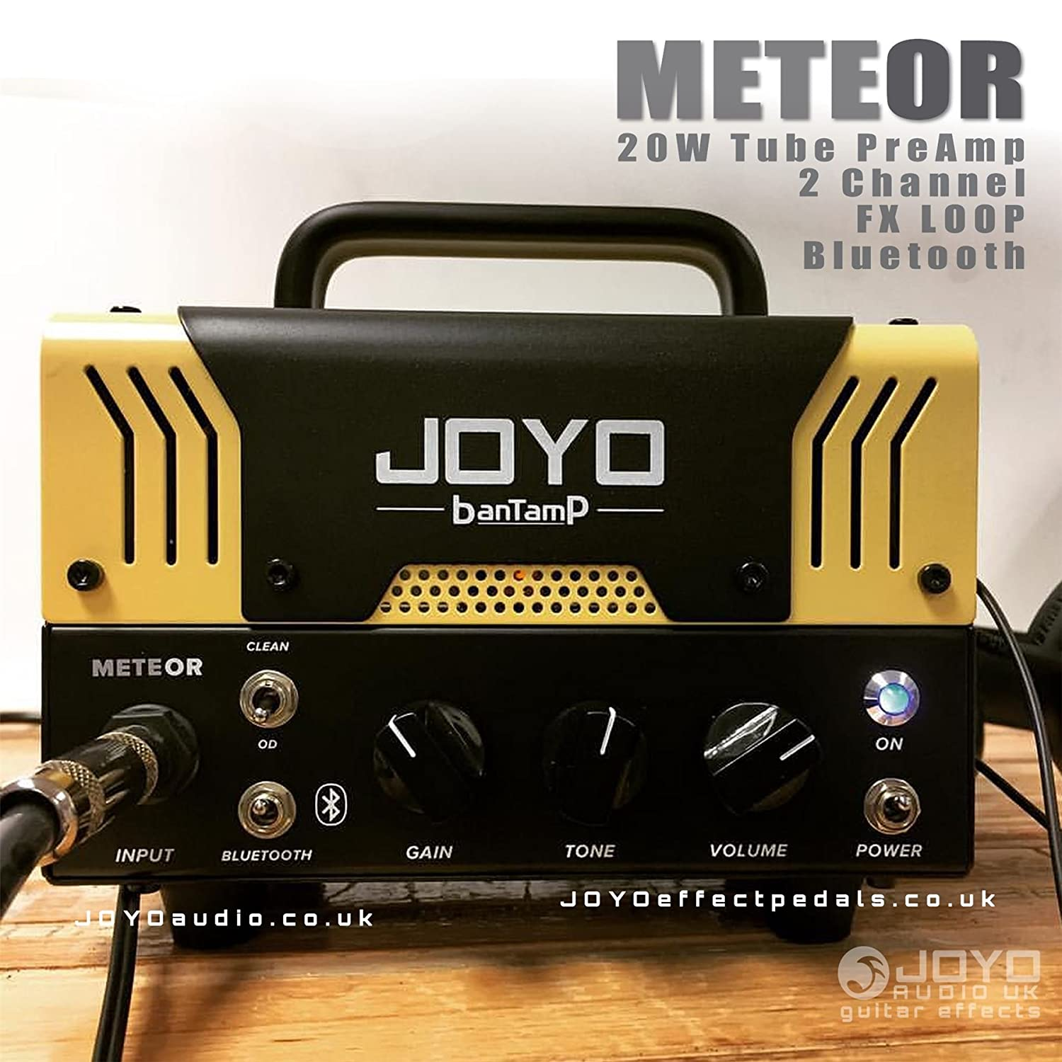 Joyo Meteor Bantamp Guitar Amplifier Head 20w Tube 2 Channel Fx Loop T Amp Headphone Bluetooth Musical Instruments