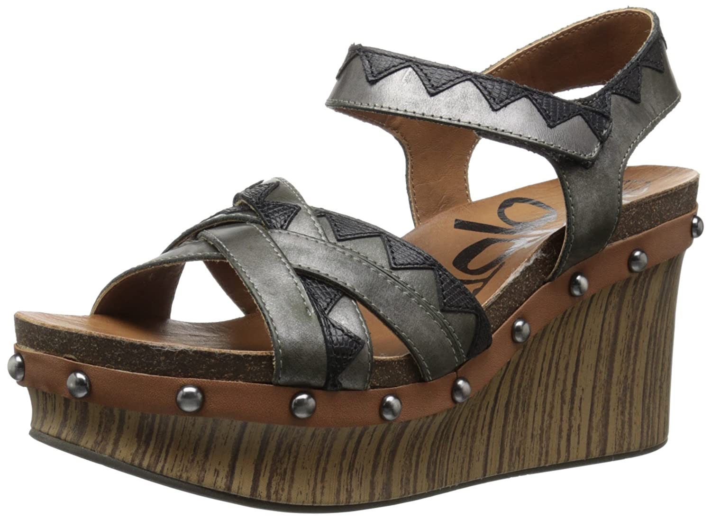 OTBT Women's Eccentric Wedge Sandal B01A6MJCE6 10 B(M) US|Black