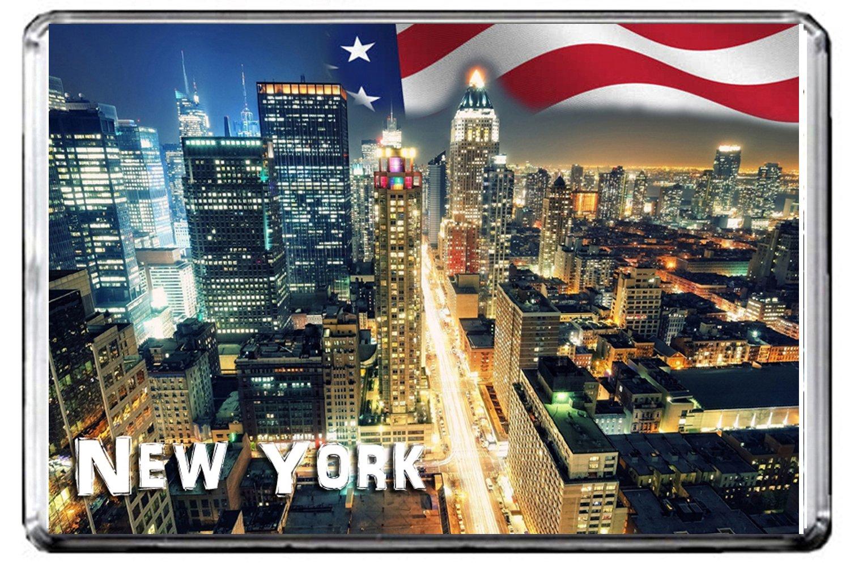 CFL E101 NEW YORK FRIDGE MAGNET USA TRAVEL PHOTO MAGNETICA CALAMITA FRIGO