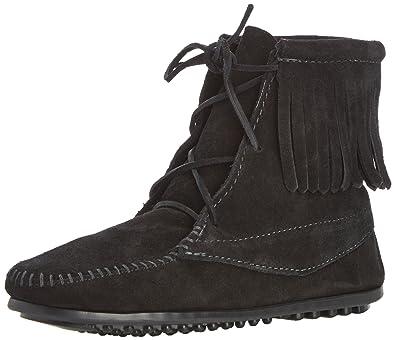 Minnetonka Tramper Boot (Toddler/Little Kid/Big Kid),Black,8