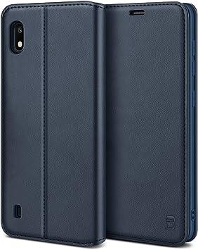 Mulbess Funda para Samsung A10 Diamante Azul Funda Samsung Galaxy A10 Libro Funda con Tapa Samsung Galaxy A10 Funda Cartera para Samsung Galaxy A10 Carcasa