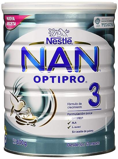 NAN OPTIPRO 3 - Preparado lácteo infantil - Fórmula de crecimiento en polvo - A partir