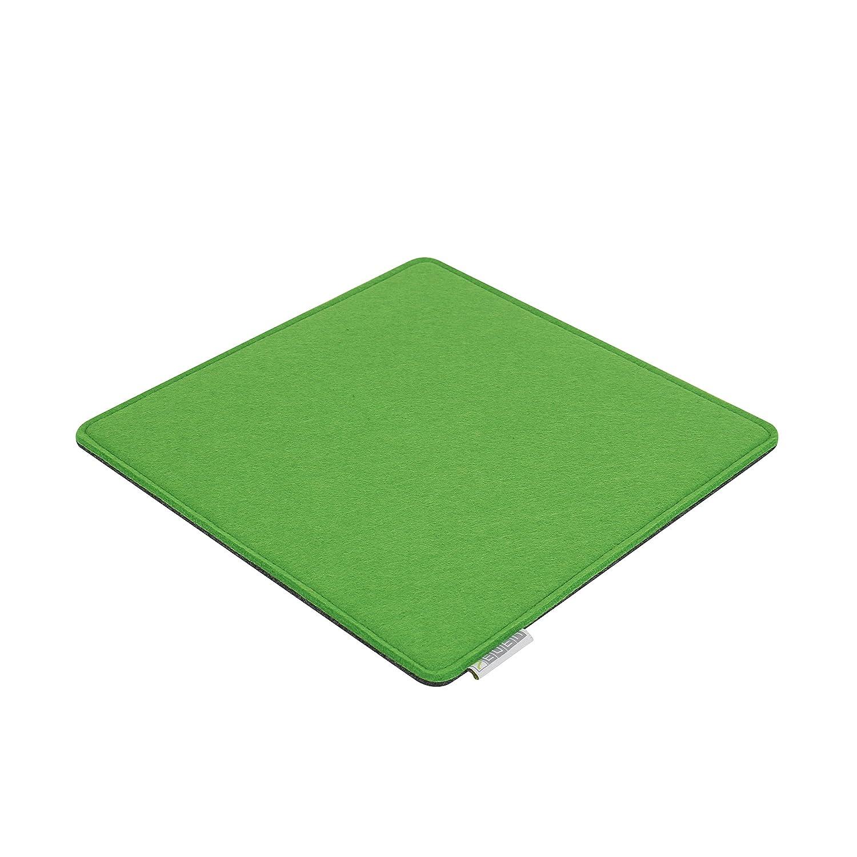 Feltro Cuscino 30x 30cm per esempio Cube Sgabello Verde/Grigio–su entrambi i lati 4mm/4mm Premium di alta qualità–Cuscino per sedia di feltro di imbottitura 7even