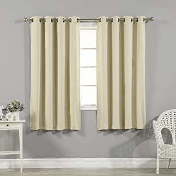 Best Home Fashion Thermal Insulated Blackout Curtains   Antique Bronze  Grommet Top   Beige   52 quot. Amazon com  Best Home Fashion Thermal Insulated Blackout Curtains