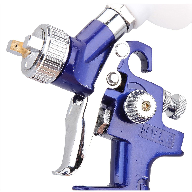 Juego de pistola de pintura HVLP de 0,8 mm, alimentación por gravedad, aire comprimido, de Dromedary: Amazon.es: Coche y moto
