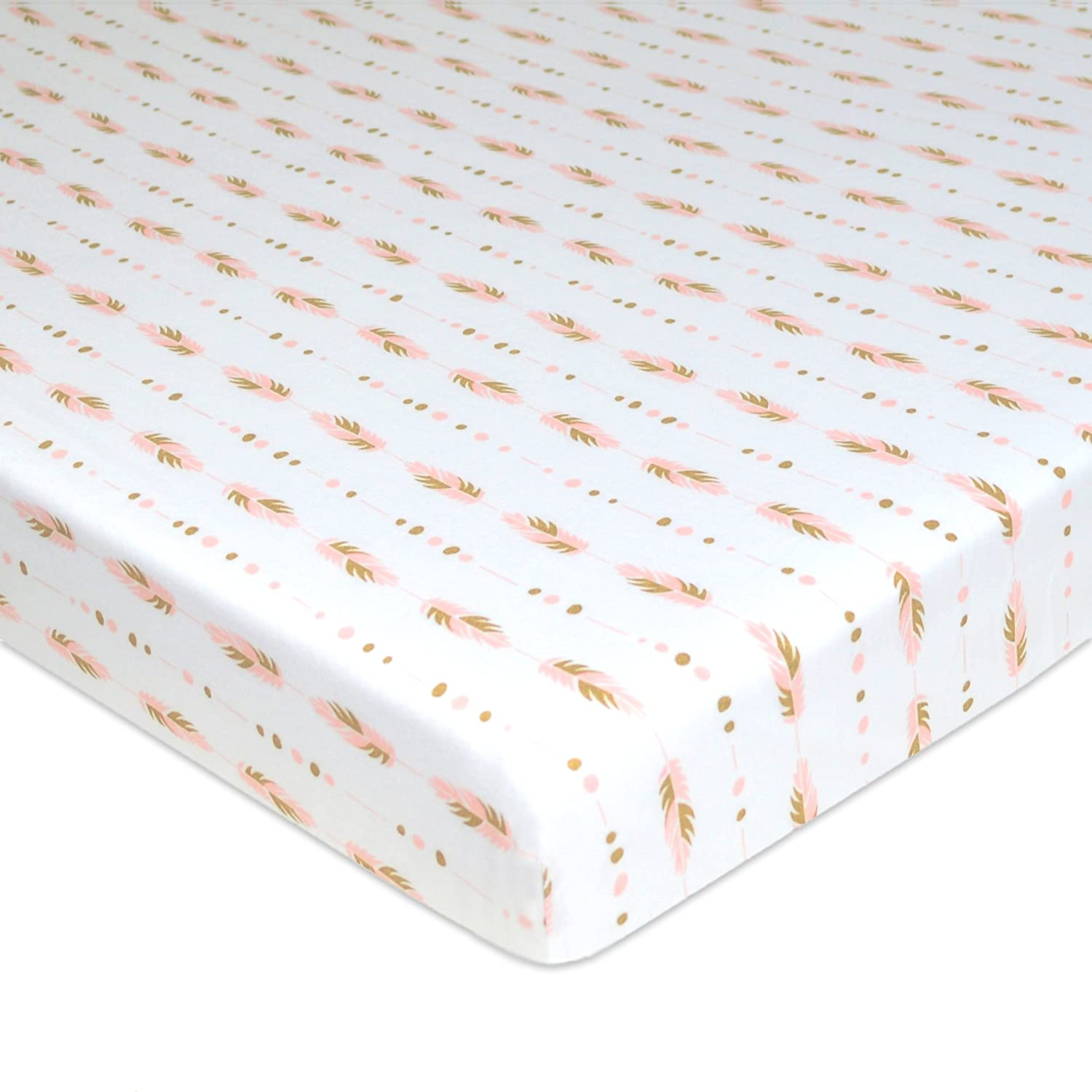 for Boys and Girls TL Care Fitted Portable//Mini-Crib Sheet 100/% Natural Cotton Jersey Soft Breathable Stars and Moon