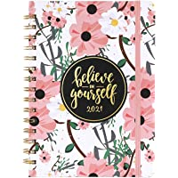 """2021 Planner - Weekly & Monthly Planner 2021 with Tabs, 6.4""""x 8.5"""", Jan 2021 - Dec 2021, Flexible Hardcover, Strong…"""