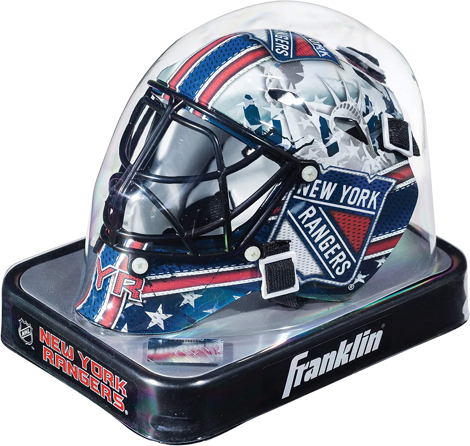 Franklin Sports New York Rangers NHL Team Logo Mini Hockey Goalie Mask with Case - Collectible Goalie Mask with Official NHL Logos and Colors : Hockey Goalie Masks : Sports & Outdoors