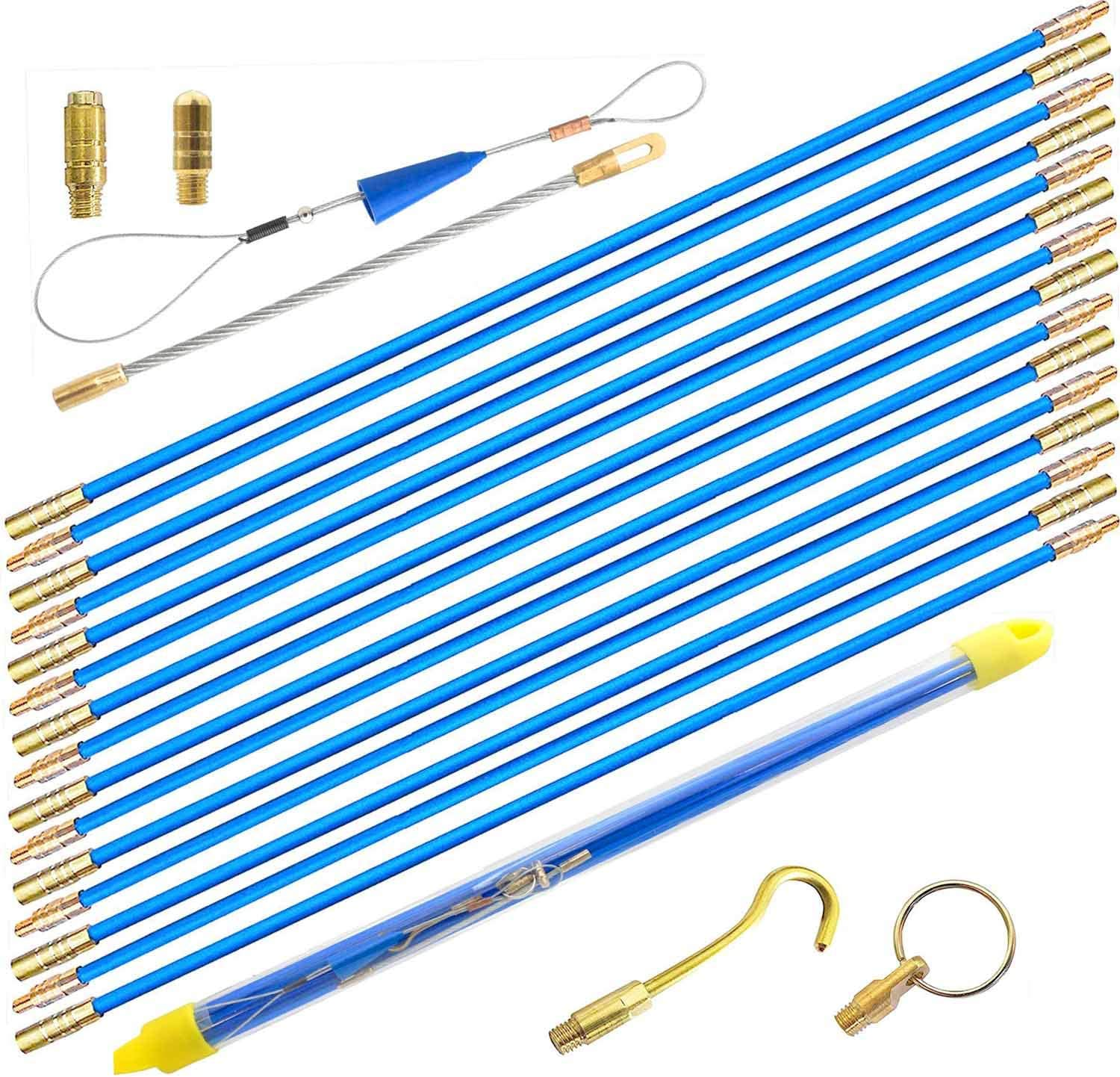 33/' Fiberglass Fish Tape Cable Rods By For Coaxial Wall Wiring Fishing Sticks