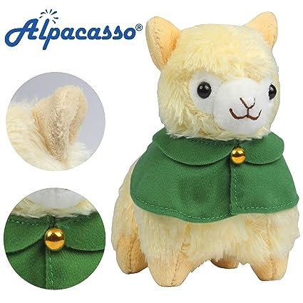 Amazon Com Alpacasso 6 7 Yellow Cloak Plush Alpaca Plush Stuffed