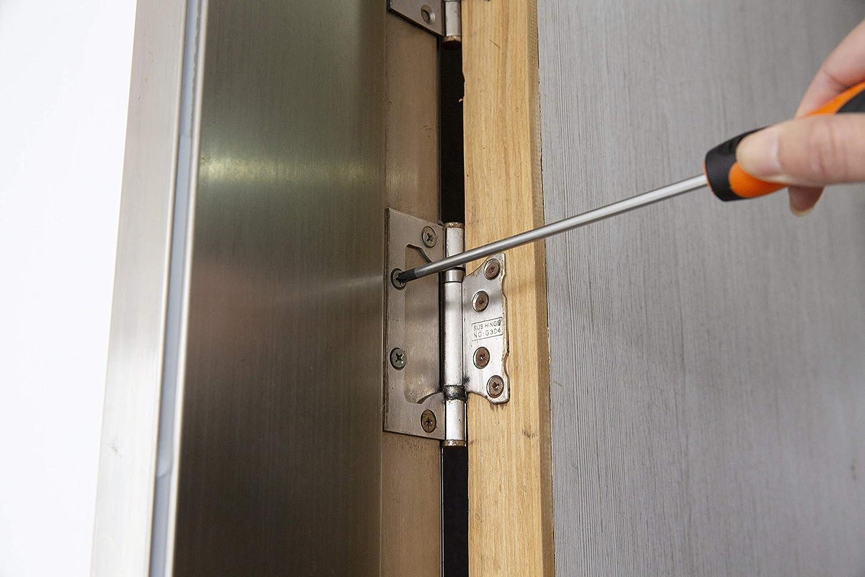 KENDO Schraubenzieher f/ür Phillips Schrauben magnetische Spitze PZ0 x 75 mm Kreuzschlitz