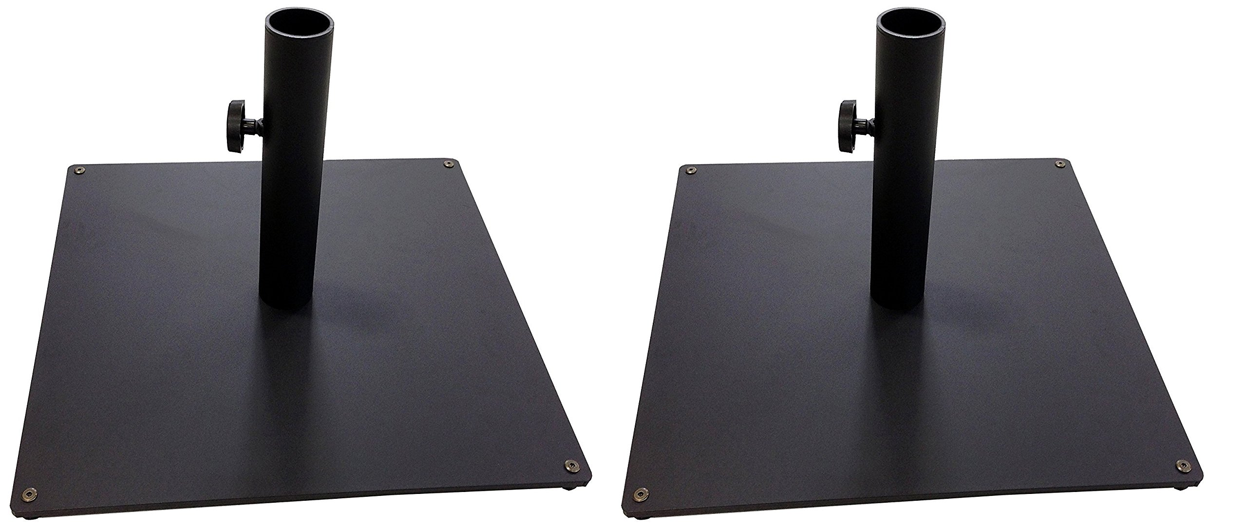 Tropishade Steel Plate Umbrella Base, 36 lbs, Black (Pack of 2)