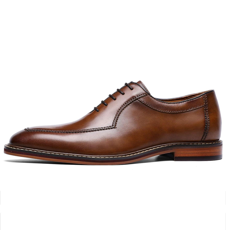 Homme Chaussures de Ville /à Lacets Oxfords Derbies Cuir Formel Mariage Soir/ée Habill/ées Travail Robe Bout Pointu Marron Noir Taille EU 37-44 Brown 40