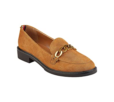 d7b1444468d Tommy Hilfiger Womens Bosse Leather Closed Toe Loafers
