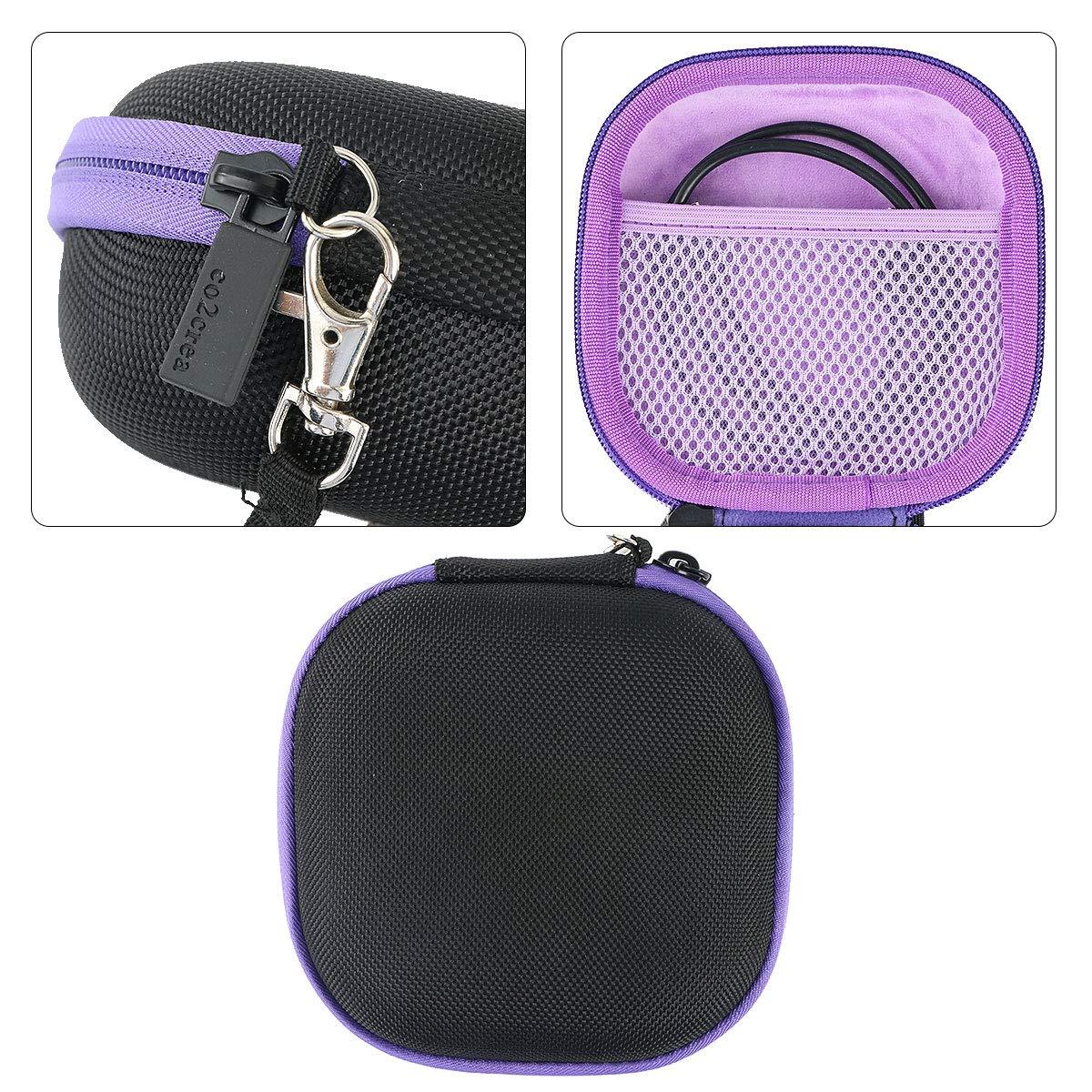 co2CREA storage carry travel hard case for LeapFrog Rockit Twist Kids Educational Toy external black,green zipper
