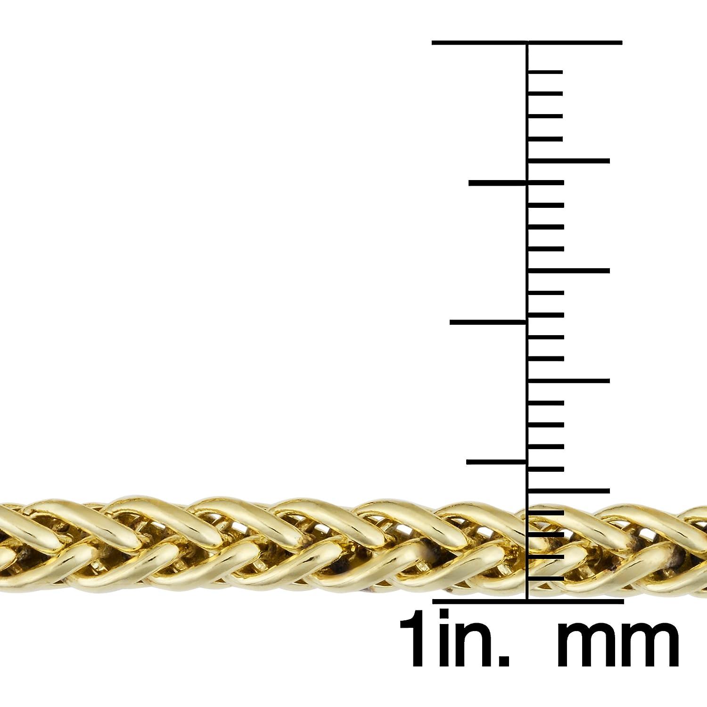Kooljewelry 14k Yellow Gold Filled Heavyweight Unisex 6mm Franco Link Chain Bracelet Fremada KGFFR120-8.5