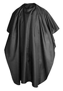 TRIXES Hairdressing Gown in Black for Salon for Cutting Colour Hair