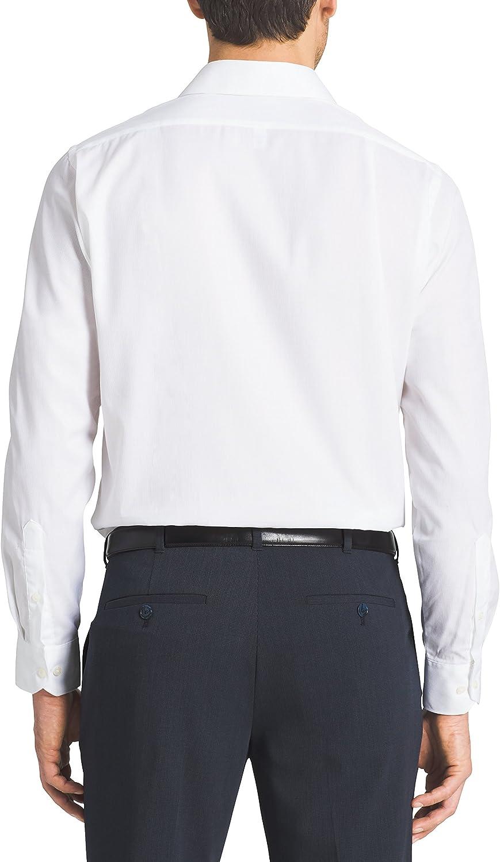 Van Heusen Mens Dress Shirts Regular Fit Solid Pincord Spread Collar