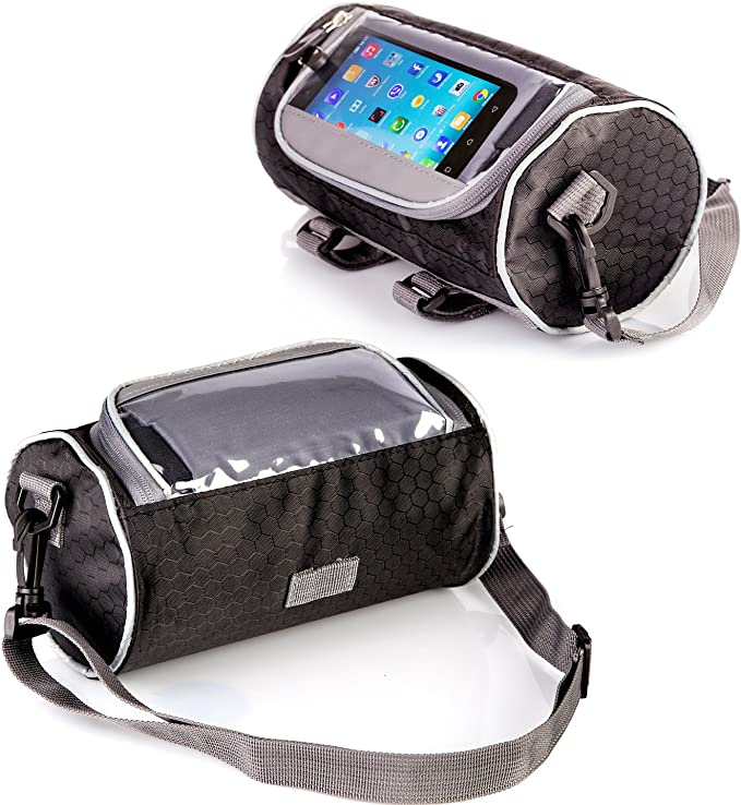 Waterproof Cycling Frame Storage Bag Bicycle Frame Pannier /& Front Tube Cell Phone Bag by Boxiki Travel