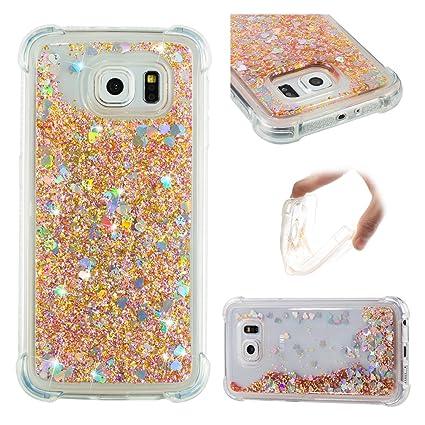 Oukety Funda Samsung S6 Carcasa Purpurina, Galaxy S6 Carcasas ...
