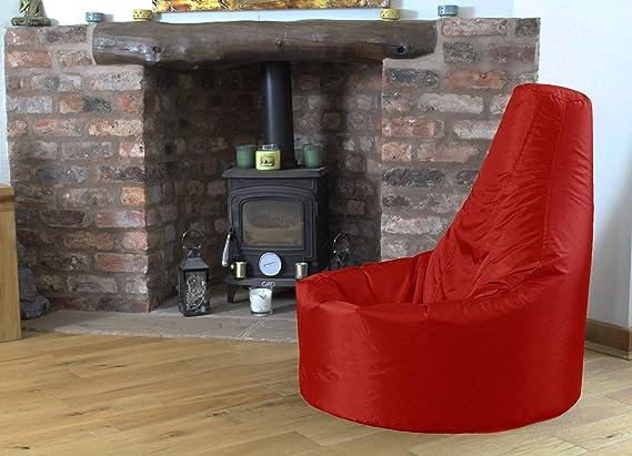 Gamer sillón reclinable y puf de tamaño grande para exteriores e interiores para videojuegos para XXL rojo - asiento de silla puf (agua y resistente a ...