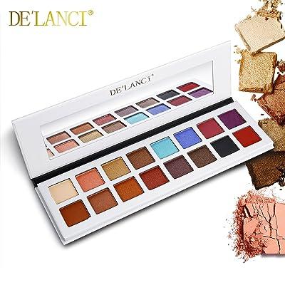 DE'LANCI 16 Colores paleta de sombra de ojos, Shimmer & Matte Maquillaje - altamente pigmentado Multi-Color Colección