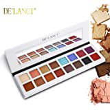 DE'LANCI 16 Colours Eyeshadow Palette, Shimmer & Matte Makeup - Highly Pigmented Multi-Colour Collection