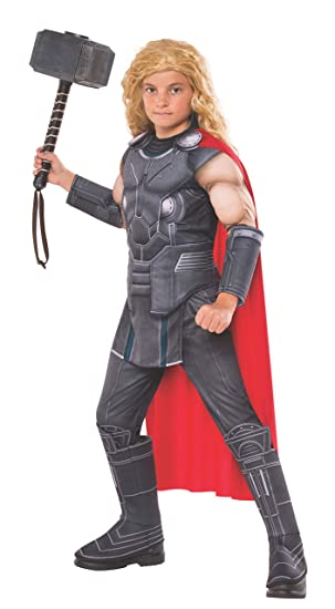 Rubie's Official Marvel Ragnarok Thor, Deluxe Child Costume - Small age  3-4, Height 117 cm