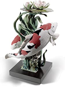 LLADRÓ Koi Fish Sculpture. Limited Edition. Porcelain Carpas Koi.