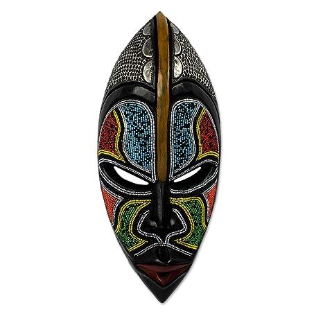 Amazon.com: NOVICA Zulu África mÁscara de madera: Home ...
