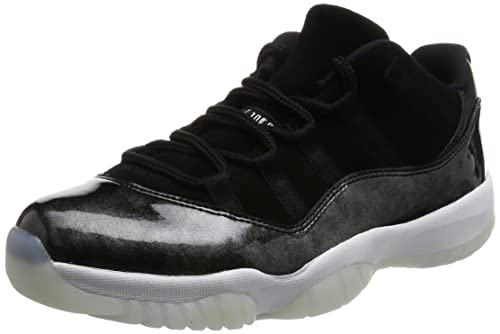 4f157ca9782 Jordan Men Air 11 Retro Low Baron Black White-Metallic Silver: Amazon.ca:  Shoes & Handbags