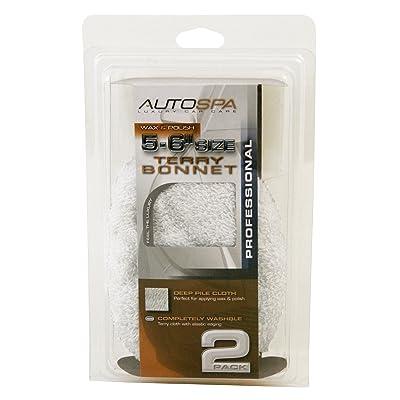 """Carrand 40400AS AutoSpa 5-6\"""" Cotton Terry Polishing Bonnet (2-Pack): Automotive [5Bkhe2000142]"""