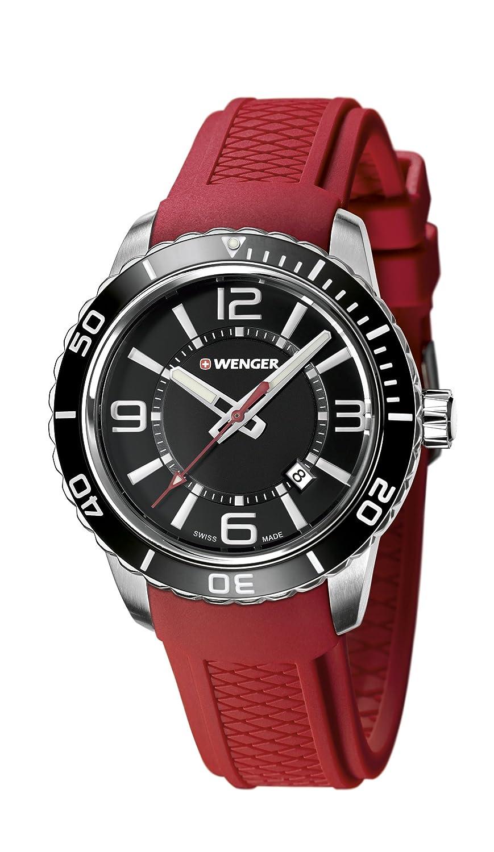 WEGNER Unisex-Armbanduhr 01.0851.116 WENGER ROADSTER Analog Quarz Silikon 01.0851.116 WENGER ROADSTER