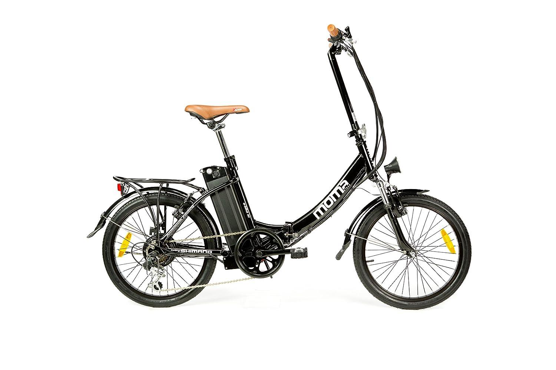 Moma Bikes Bicicleta Eléctrica Plegable SHIMANO ruedas de Aluminio Batería Ion Litio