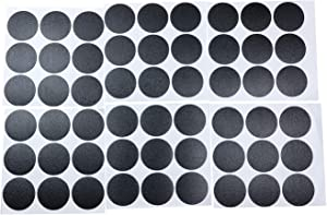 Mini Skater 1 Sheet/54Pcs 20mm Wooden Furniture Accessories Self Adhesive PVC Material Decoration Furniture Cabinet Screw Cap Covers Hole Stickers (Blackening)