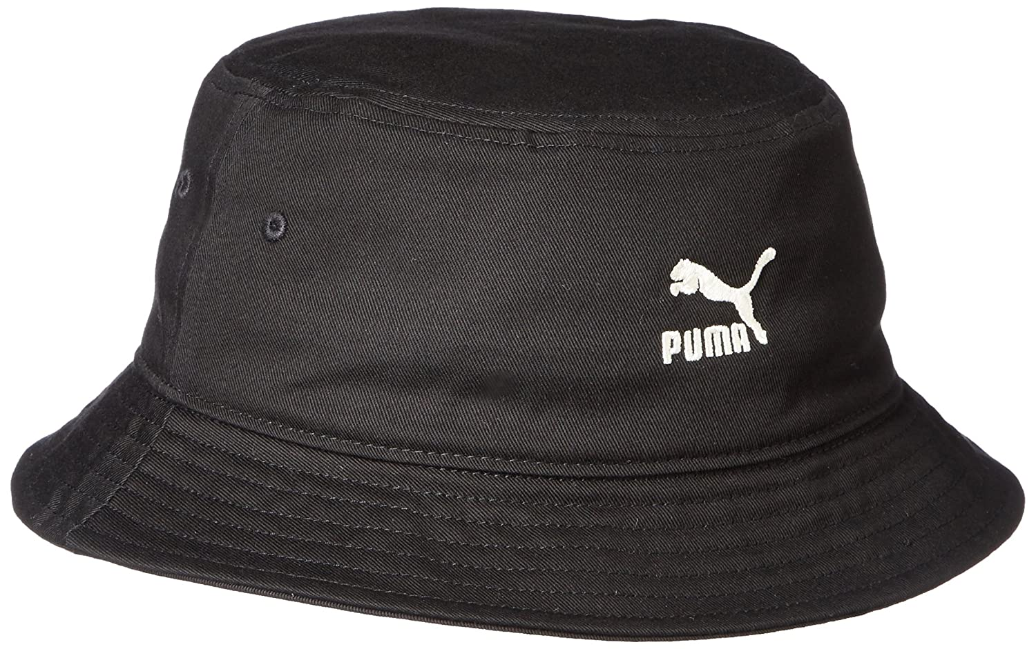 ba06c36bf86 Puma Men s Cotton Bucket Hat (021172 Black)  Amazon.in  Clothing    Accessories