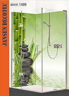 Duschrückwand, Badrückwand mit eigenem Motiv   200cm Höhe (100*200 ...