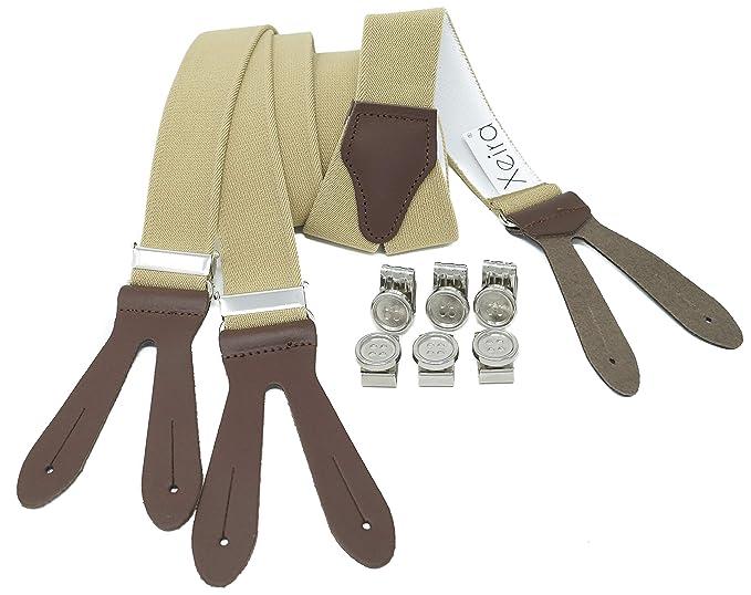Saldi 2019 completo nelle specifiche tecniche moderne Xeira Bretelle a forma di Y clip di pulsanti per uomo e ...