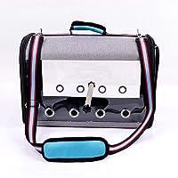 Pet Bird Travel Bag,Portable Pet Bird Parrot Carrier Transparent Breathable Travel Cage,Lightweight Bird Carrier and…