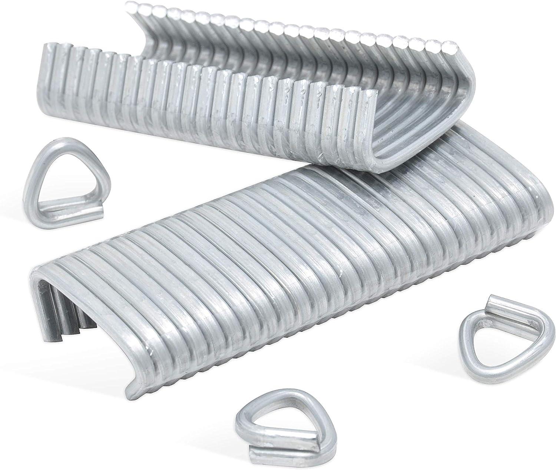REGUR OK 33 vz Anillos de alambre D galvanizados - 450 piezas para la fijación de gaviones, cestas de piedra, cercas u.v.m.