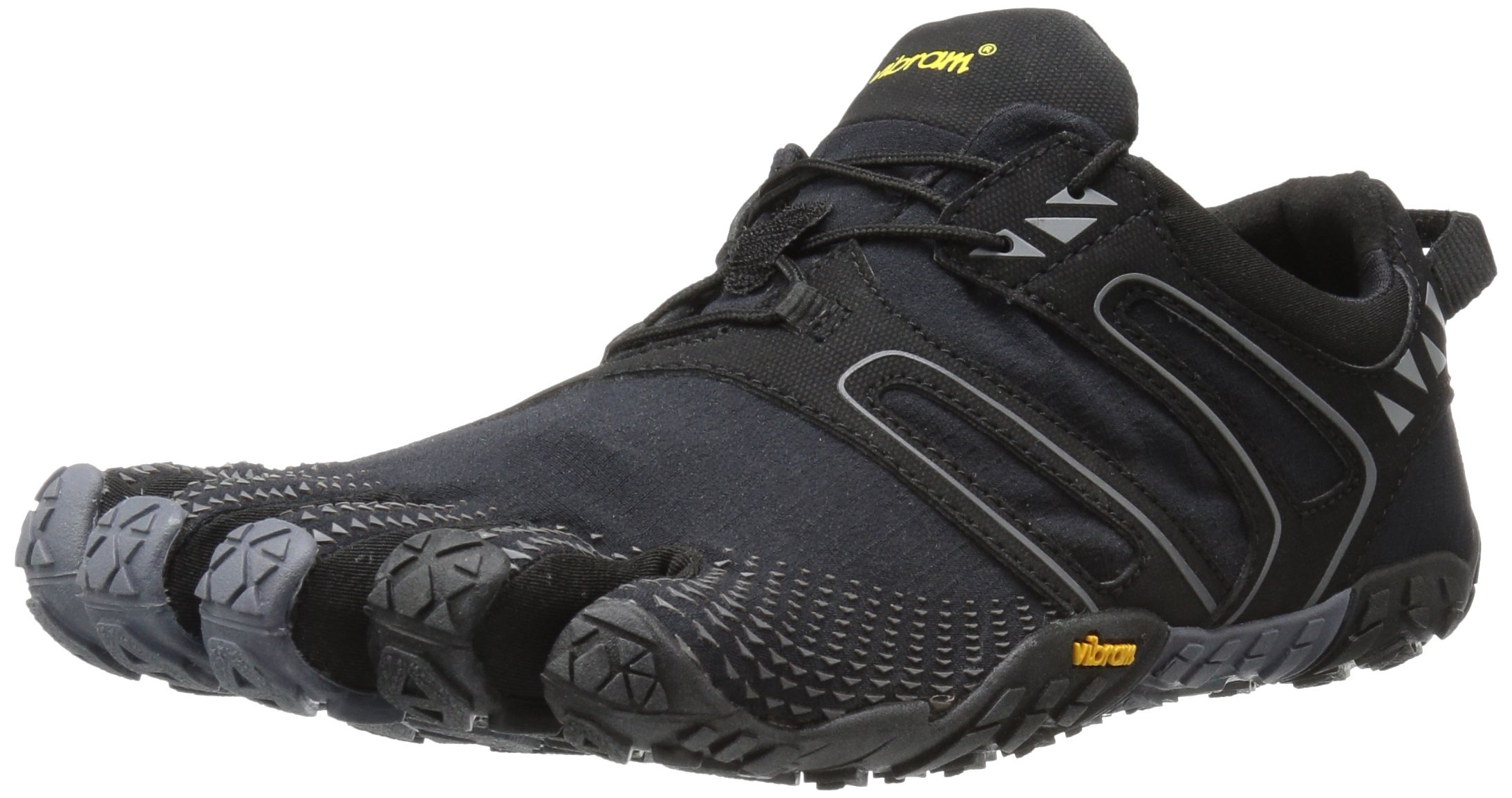 Vibram Men's V Trail Runner, Black/Grey, 8-8.5 M US/40 EU