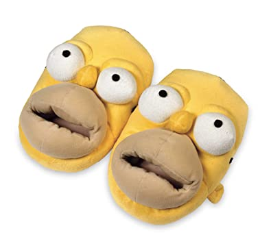 44231a7b48487 Simpsons - Chaussons Homer Peluche  Amazon.fr  Chaussures et Sacs
