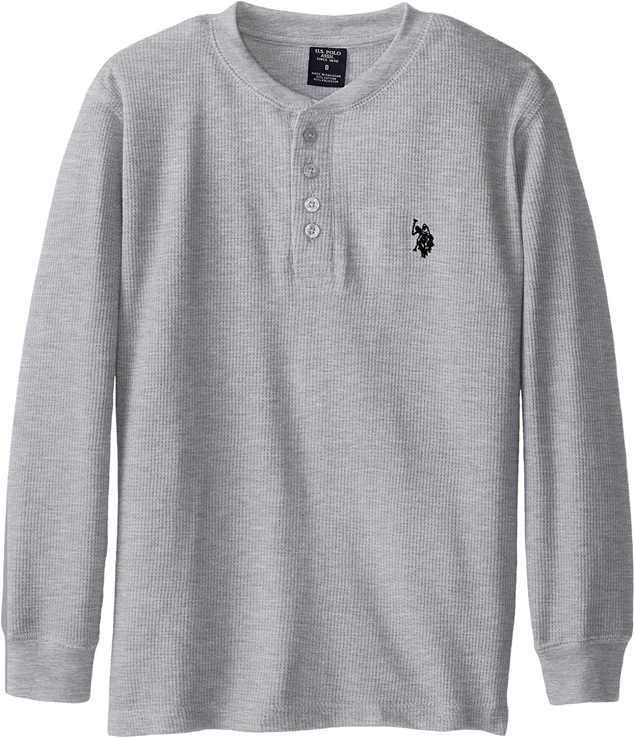 Polo Assn Boys Long Sleeve Solid Henley Shirt U.S