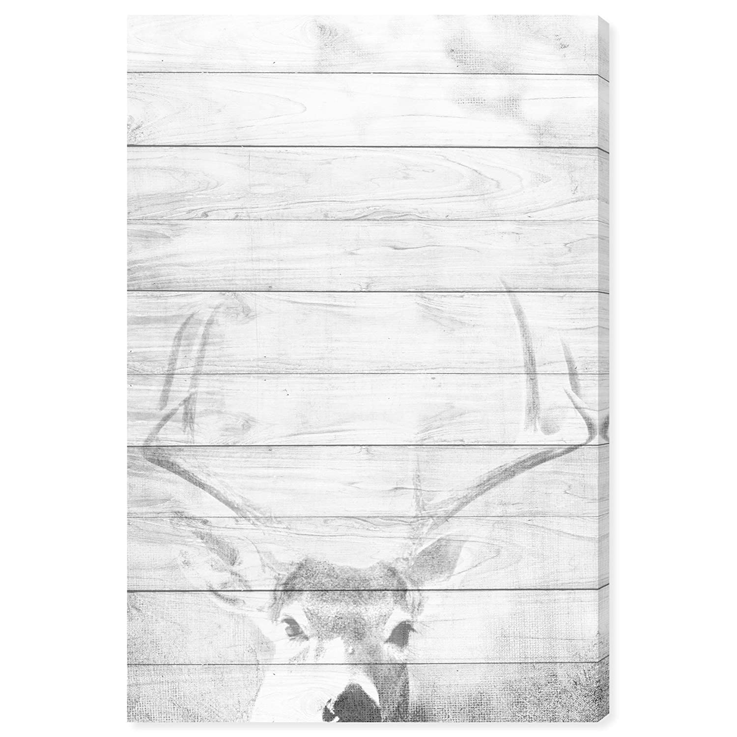 Amazon.com: Oliver Gal Deer in The Winter Canvas Art 30x45: Posters & Prints