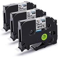 3x Ruban pour Etiqueteuse 12mm Compatible Brother P-touch TZe-231 TZe231 Laminé Ruban Cassettes, avec PT-H100LB PT-E100 PT-D400 PT-1250 PT-H110 PT-1000 PT-1010R, noir sur blanc