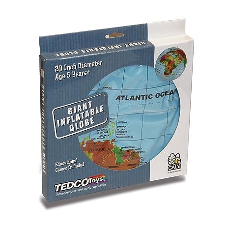 Tedco 76000 Globo Hinchable Mundial 50,8 cm, Multi, 25,4 cm