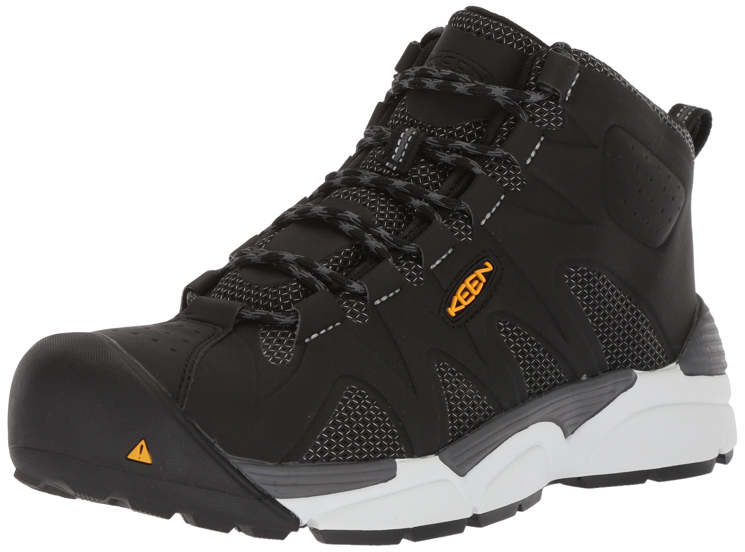 KEEN Utility Men's San Antonio Industrial Shoe, Black/Silver, 11 D US