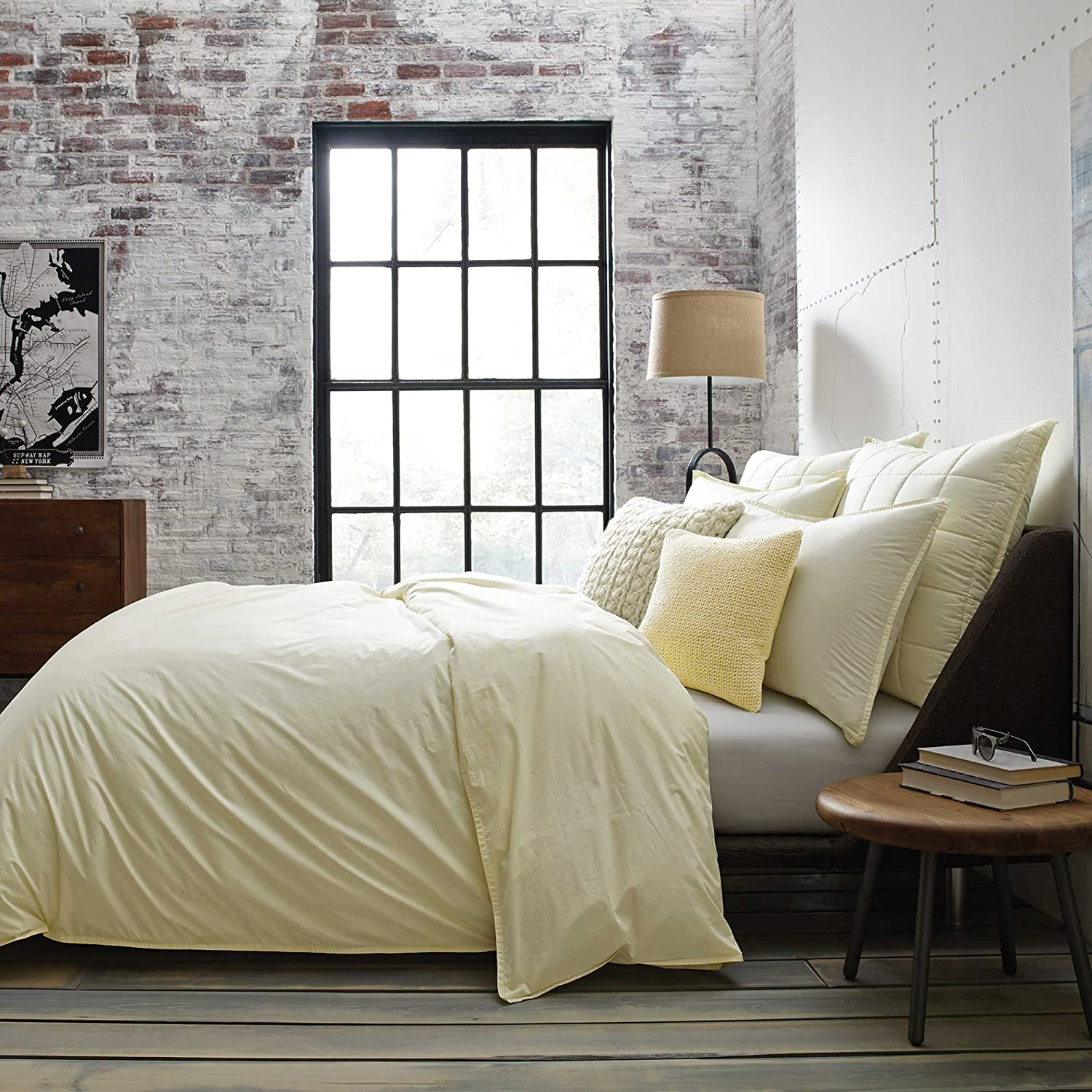 Kenneth Cole New York Escape European Pillow Sham in Lemon