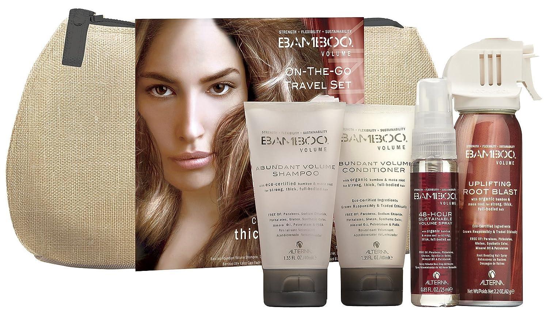 Alterna Bamboo Volume On The Go Travel Set Hair Transformation Kit - Abundant Volume Shampoo 40 Milliliter, Conditioner 40 Milliliter, 48 Hour Sustainable Volume Spray 25 Milliliter