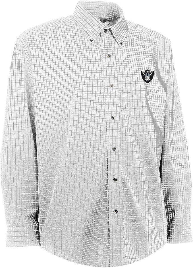 Antigua NFL Oakland Raiders del Hombre Esteem Tejido Vestido Camiseta